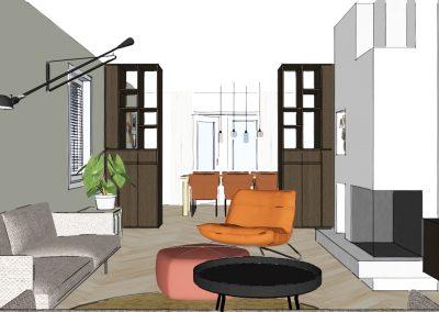 Interieuradvies | tweeondereenkap woning Zwolle
