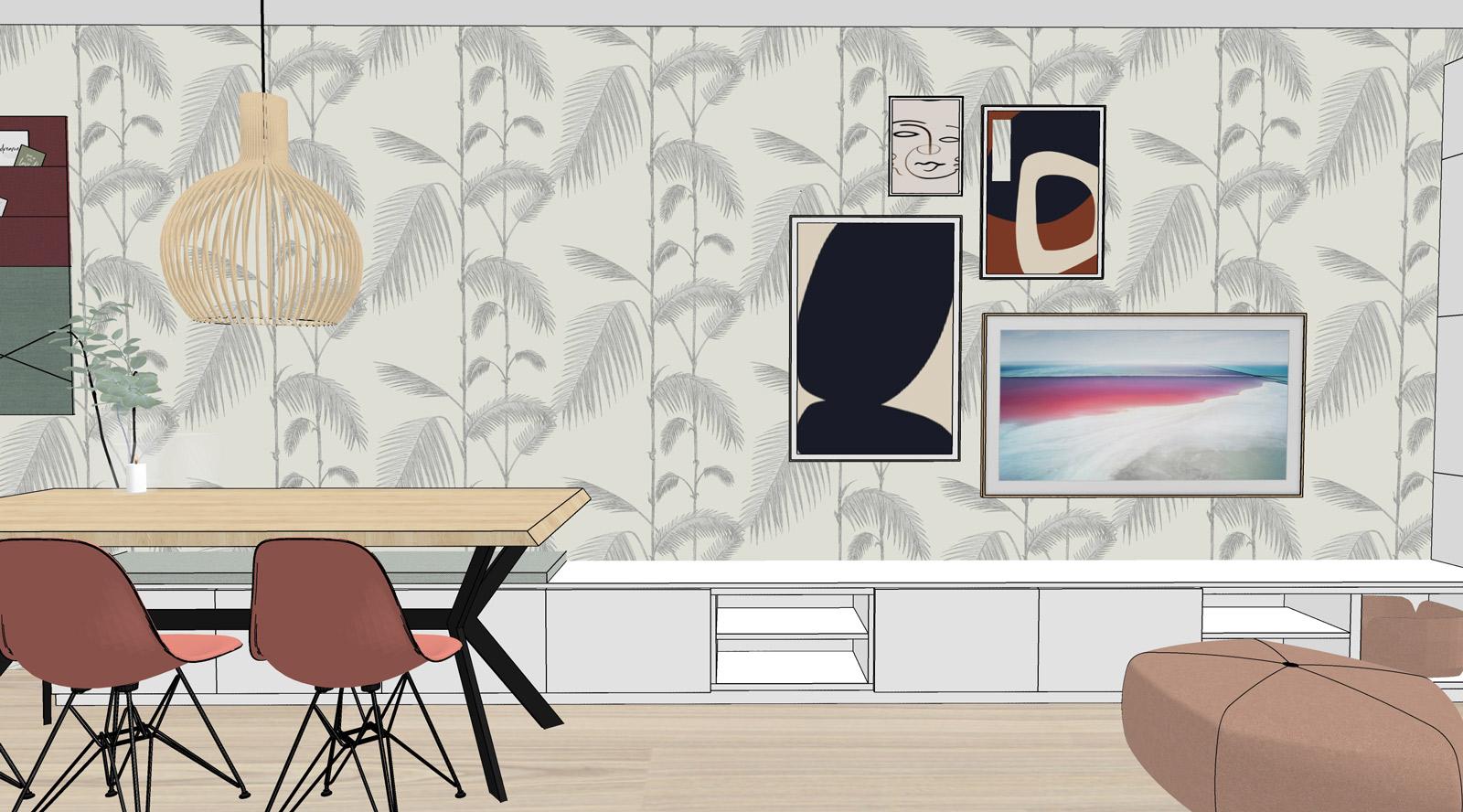3d impressie maatwerk meubel