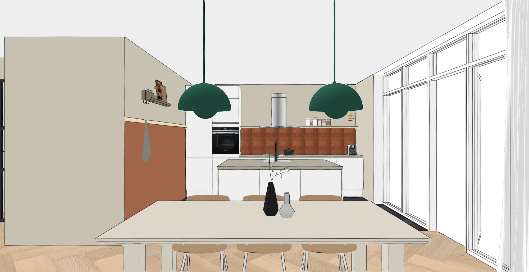 3d impressie keuken